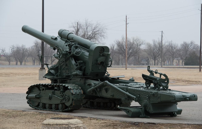 Фото обои оружие, пушка, артиллерия, гусеничный лафет