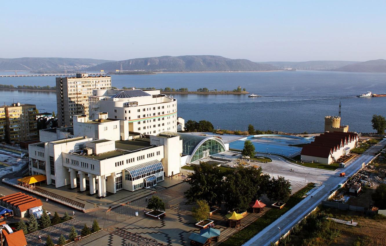 Фото обои Город, Россия, ДК ТольяттиАзот, Тольятти, Комсомольский район