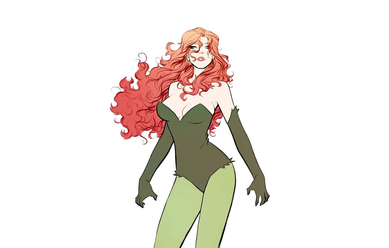 Фото обои Girl, comics, redhead, dc universe, poison ivy