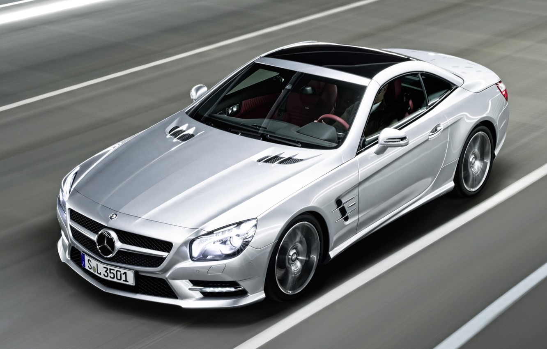 Фото обои скорость, mercedes, автомобиль, 2012, мерседес, benz, amg, едет, sports, sl350, package