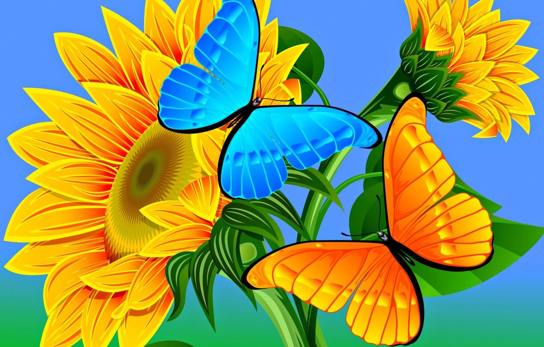 Обои вектор, абстракция, цветы, открытка. Разное foto 17