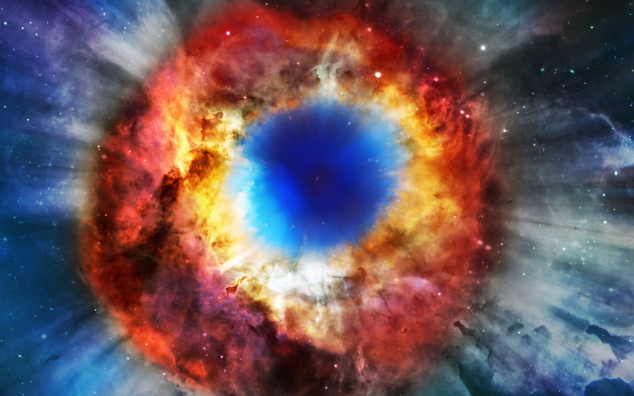 Buy Helix Nebula Cosmos Eye of God Duvet Cover Duvets amp Down Comforters Amazoncom FREE DELIVERY possible on eligible purchases