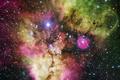 Картинка туманность, Хаббл, красивая, разноцветная