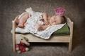 Картинка игрушка, ребёнок, малыш, дети, платок, корона, слон, спит, кроватка, сон