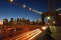 Картинка дорога, огни, Мост, вечер