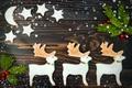 Картинка звезды, Рождество, cookies, Новый год, Baking, sweet, Christmas, олени, Deer, сладкое, печенье, выпечка