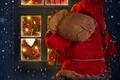Картинка зима, снег, lights, огни, дом, праздник, окно, house, Санта Клаус, winter, snow, window, Merry Christmas, ...