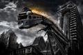 Картинка метро, апокалипсис, здания, развалины
