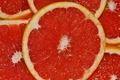 Картинка красный, цитрус, грейпфрут, дольки, сочный