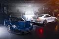 Картинка GT3, Garage, Spyder, Blue, 918, Automotive, White, Rear, Front, Supercars, Porsche