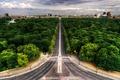 Картинка облака, авеню, лес, дорога, город, Берлин