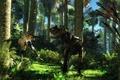 Картинка disagreement, динозавры, cretaceous age, джунгли, спор