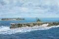 Картинка корабль, арт, авианосец, флот, военный, японский, WW2, aircraft carrier, IJN, Soryu, Hiryu