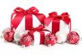 Картинка Праздник, подарки, шары, зима, рождество