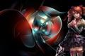Картинка воительница, арт девочка, оружие, аниме, абстракция
