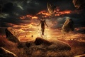 Картинка взрыв, корни, камни, голова, возвращение, восстание, Surreal, Jupiter Rising