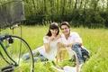 Картинка picnic, man, glasses, wine, woman, couple, love, recreation, nature