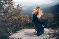 Картинка камень, вид, Andrea Peipe, платье, девушка