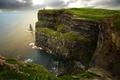 Картинка море, Ирландия, горизонт, скалы, побережье, Galway