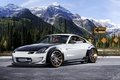 Картинка Car, Vehicles, Nissan, 350Z, Sports, Road, Tuning, Forest, Sky, Mountains