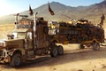 Картинка грузовик, truck, пустыня, school bus, wasteland, postapocalyptic, desert, автобус, fallout