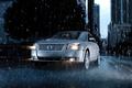 Картинка Mercury sable rain, water drops, road, city, город, машины, дождь, капли