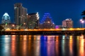Картинка ночь, Остин, night, Austin, usa, Texas, Техас, City of Color