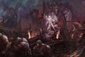 Картинка демоны, цепи, арт, лич, дракон, девушка, жертва, скалы, cheng