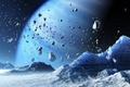 Картинка space, planet, blue, rock