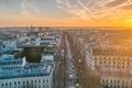 Картинка франция, город, париж, столица, эйфелева башня, утро