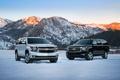 Картинка зима, снег, горы, chevrolet, suburban