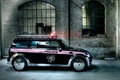 Картинка мигалка, Auto Mini Police tuning, подворотня