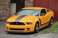 Картинка ford, mustang, 302, yellow, boss