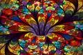 Картинка лепестки, стекло, объем, витражи, цветок