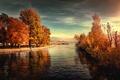 Картинка вода, деревья, обработка, Lakeside