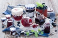 Картинка ежевика, ложки, баночки, черника, ягоды, Anna Verdina, джем, банки, посуда, варенье
