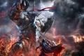 Картинка битва, Lords of the Fallen, игра, демон, video game, гигант, Харкин