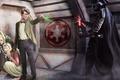 Картинка Doctor Who, Дарт Вейдер, световой меч, Star Wars, Звёздные Войны, Доктор Кто, Darth Vader, кроссовер, ...