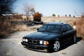 Картинка 525, E34, black, черная, tuning, BMW