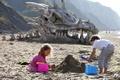 Картинка Dragon Skull, дети, песок