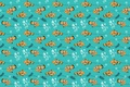 Картинка водоросли, узор, рыбки