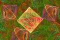 Картинка квадраты, фрактал, фон, абстракция, обои, объекты, цвета, рисунок, ромбы
