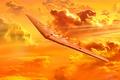 Картинка полет, бомбардировщик, Northrop, экспериментальный, летающее крыло, XB-35