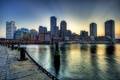 Картинка Бостон, река, набережная