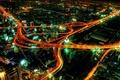 Картинка огни, дороги, Ночь