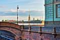 Картинка Санкт-Петербург, Петропавловская крепость, Эрмитаж, Зимняя канавка, Петропавловка