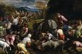 Картинка картина, жанровая, мифология, Якопо Бассано, Израильтяне Пьют Чудесную Воду, история, люди