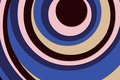 Картинка коричневый, круги, белый, голубой, геометрия, абстракция, фон