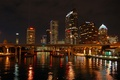 Картинка город, Ночь, фонари