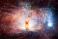 Картинка Flame nebula, красота, ngc 2024, туманность пламени, космос, туманность